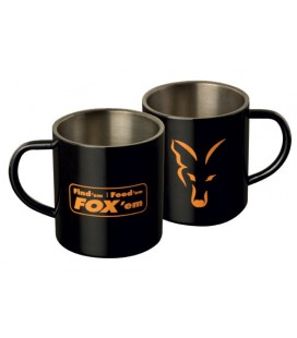 KUBEK FOX Stainless Steel Mug Black XL 400ml