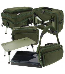 TORBA ZE STOLIKIEM Two Tier Anglers Box Case System 612