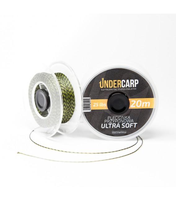 Plecionka przyponowa 20 m/25 lbs ULTRA SOFT - zielona Undercarp